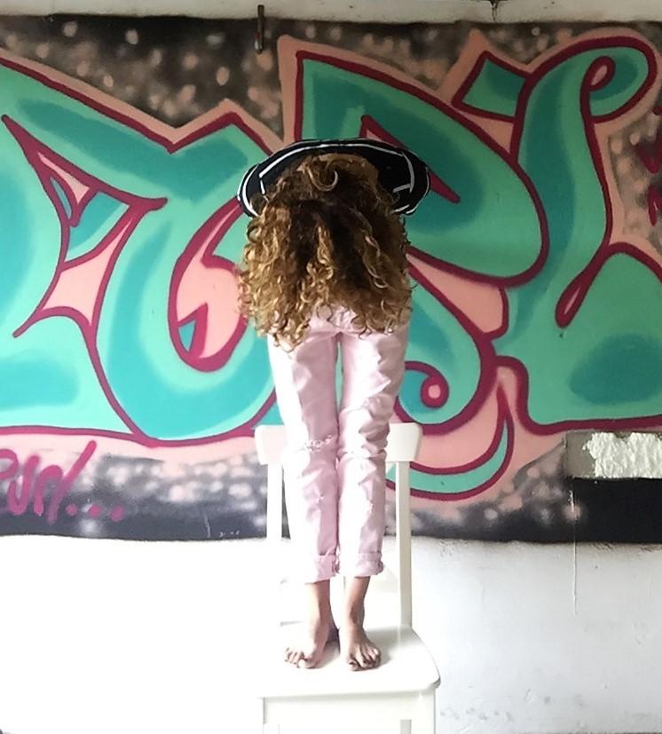 Boyfriend Jeans rosa